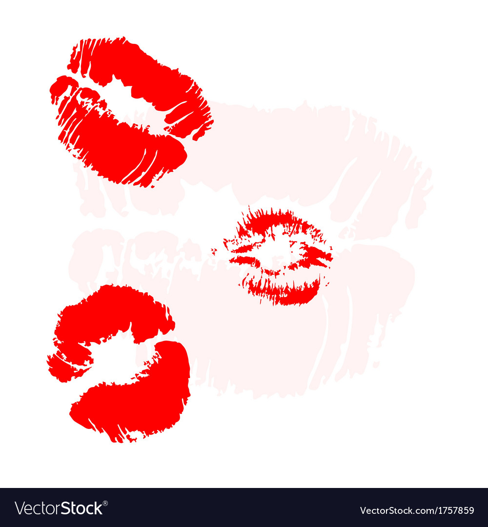 Background with kiss imprints vector | Price: 1 Credit (USD $1)