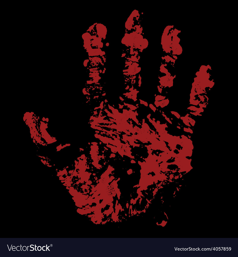 Bloody hand trace vector | Price: 1 Credit (USD $1)
