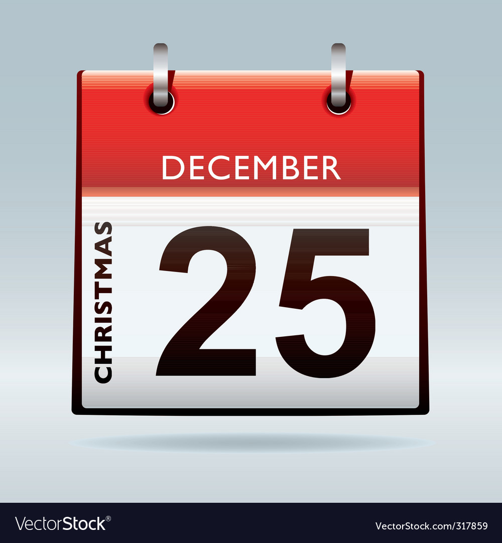 Christmas day calendar vector | Price: 1 Credit (USD $1)