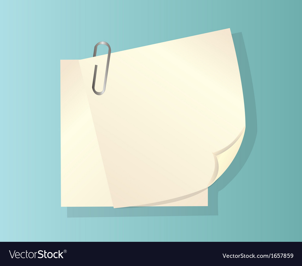 Clip and paper vector | Price: 1 Credit (USD $1)