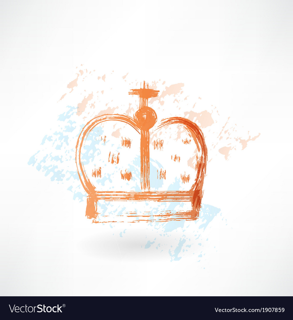 Crown grunge icon vector | Price: 1 Credit (USD $1)