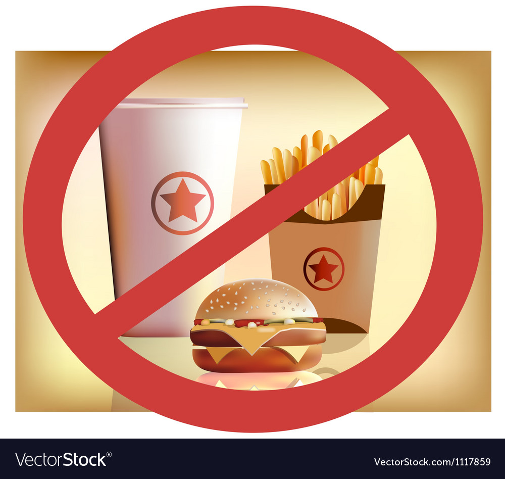 Fastfood harm for health vector | Price: 1 Credit (USD $1)