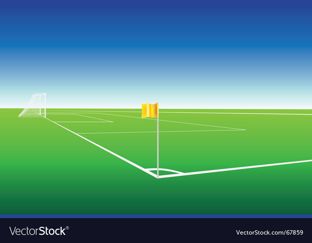 Football pitch corner flag vector | Price: 1 Credit (USD $1)
