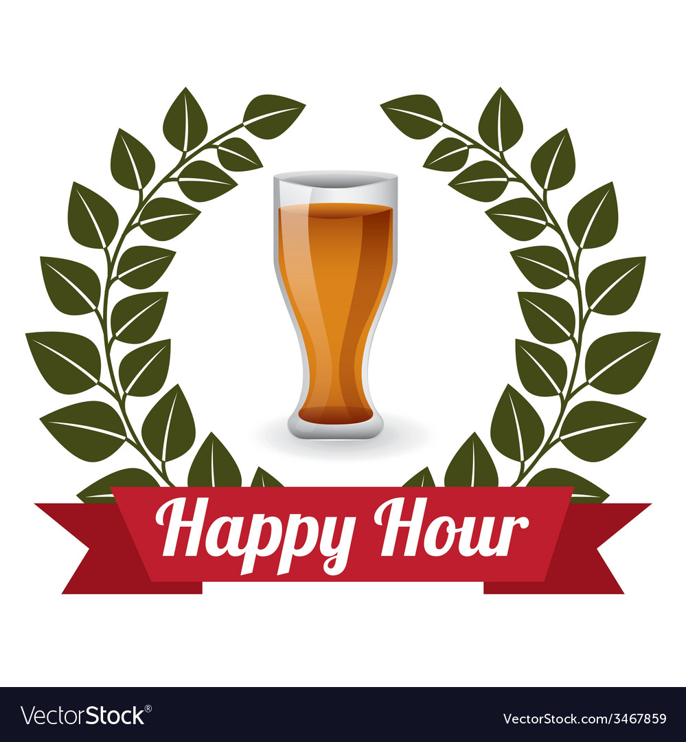 Happy hour design vector | Price: 1 Credit (USD $1)