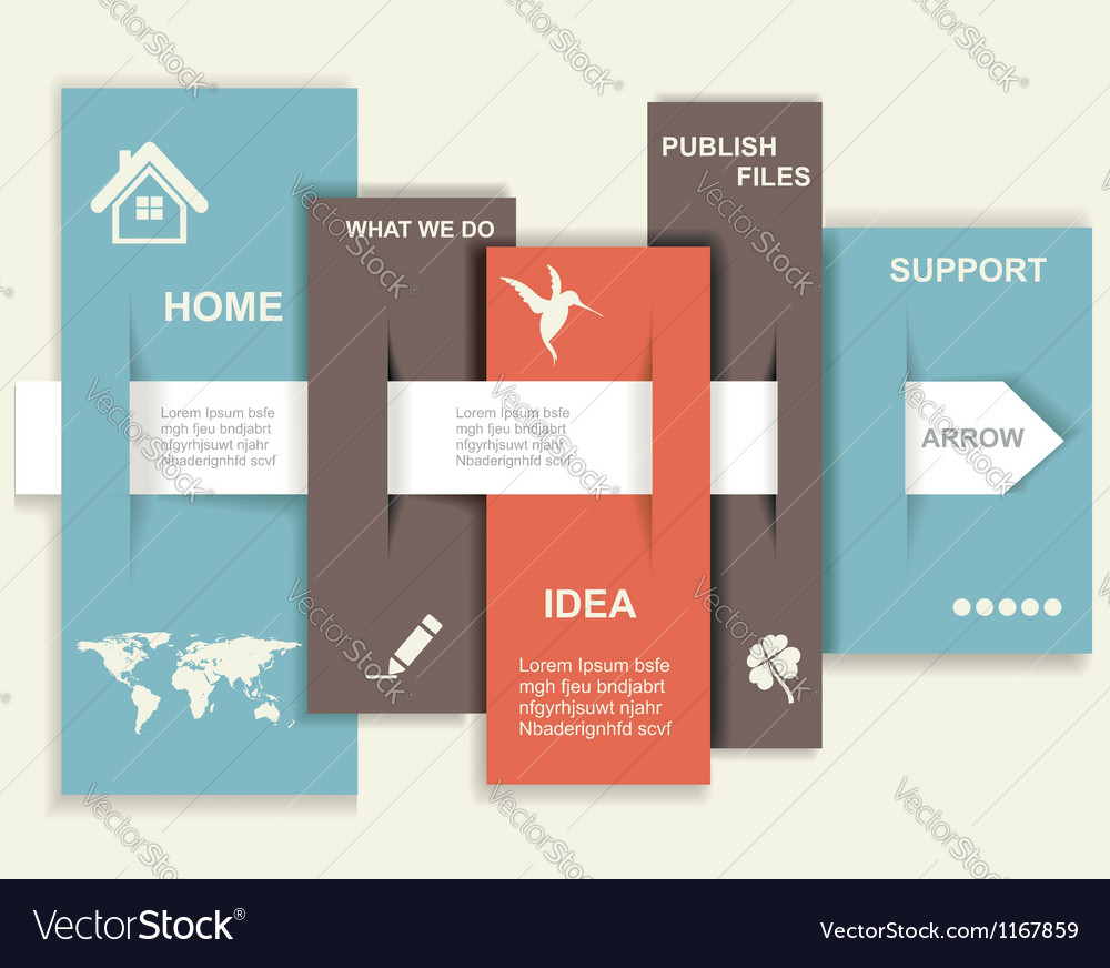Modern design template graphic or website layout vector | Price: 1 Credit (USD $1)