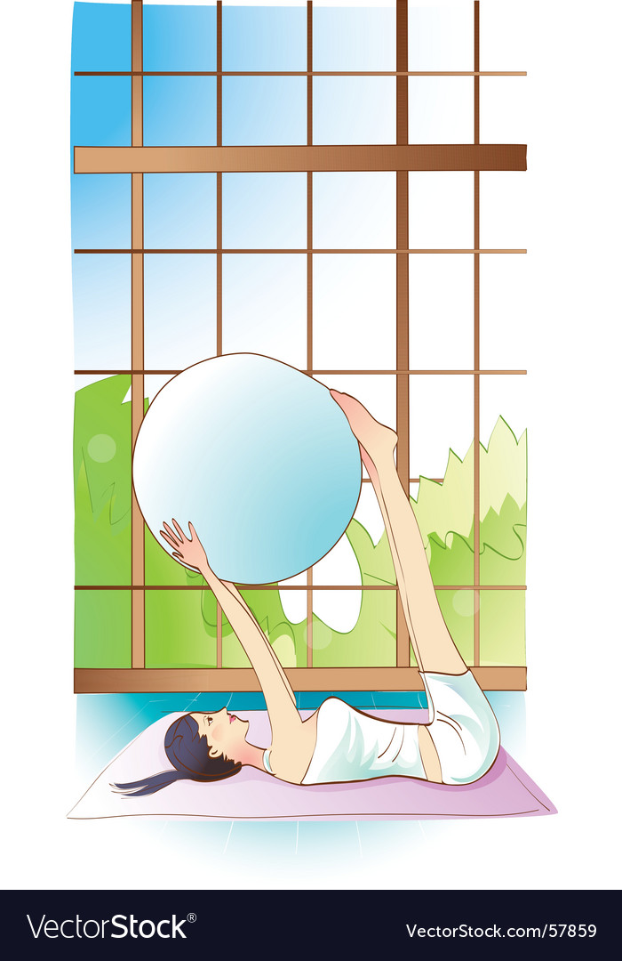 Pilates girl vector | Price: 1 Credit (USD $1)
