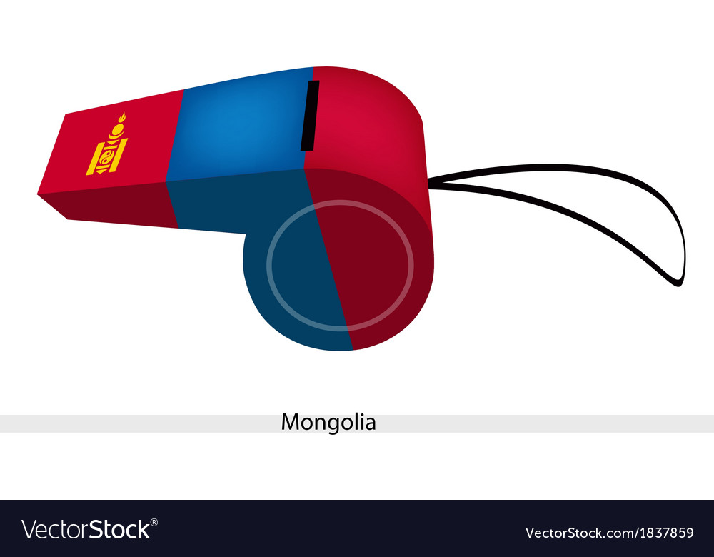 Red and blue whistle of mongolia flag vector | Price: 1 Credit (USD $1)