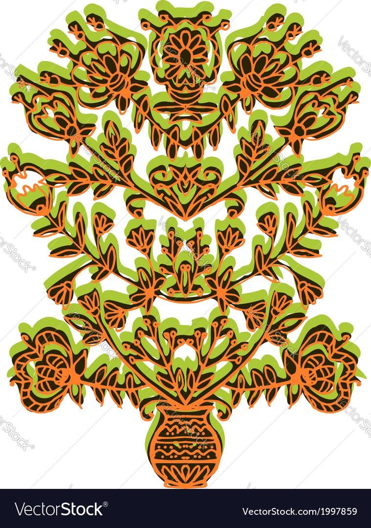 Symmetrical openwork vytynanka vector | Price: 1 Credit (USD $1)
