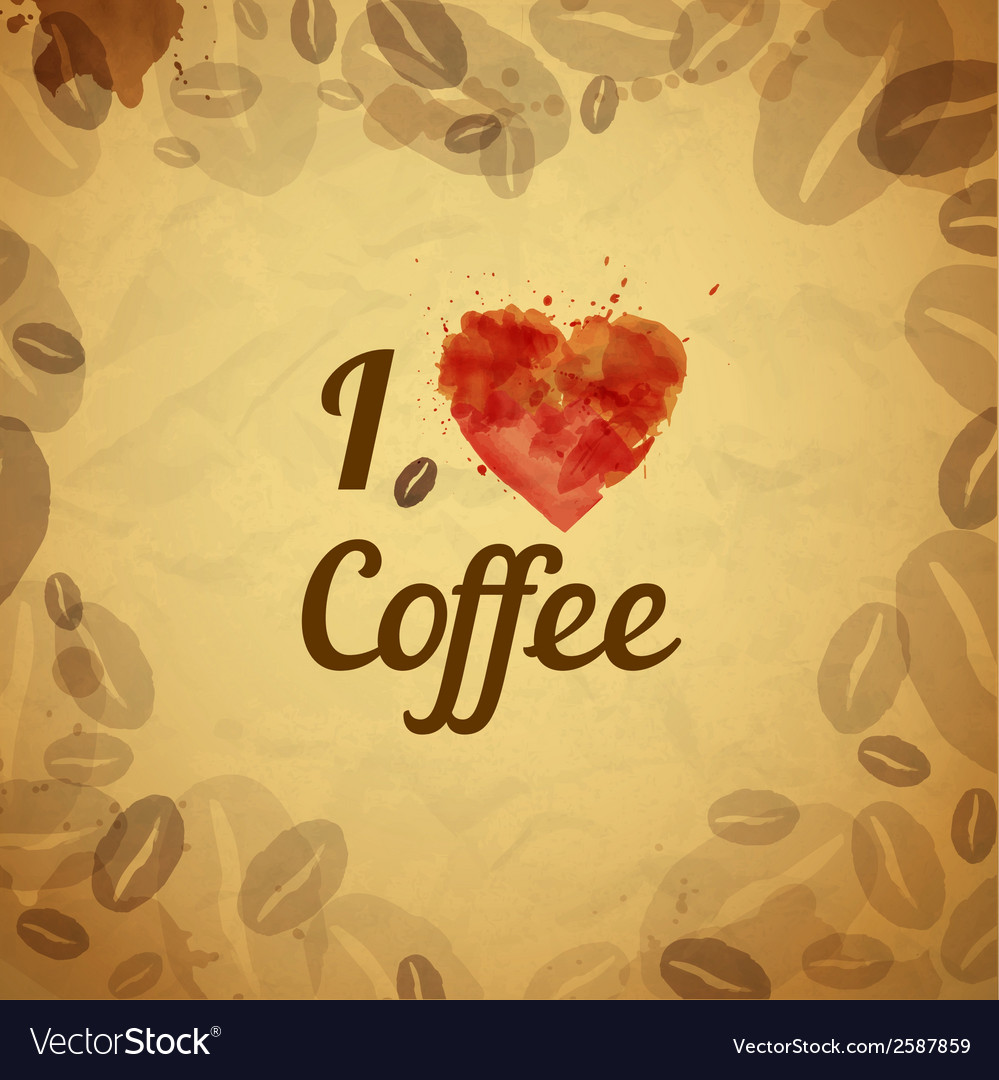 Vintage coffee typography background vector | Price: 1 Credit (USD $1)