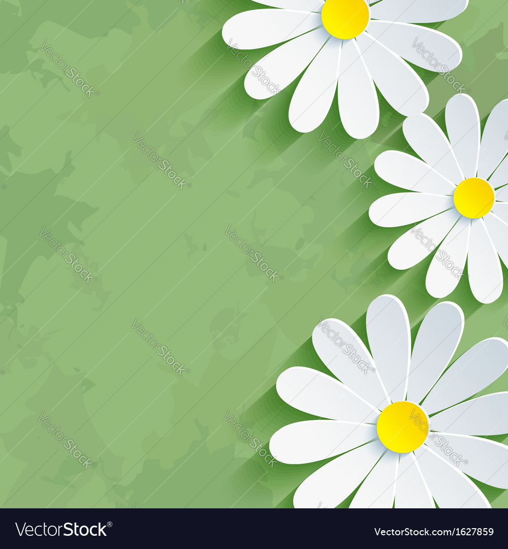 Vintage floral green background with flower vector | Price: 1 Credit (USD $1)