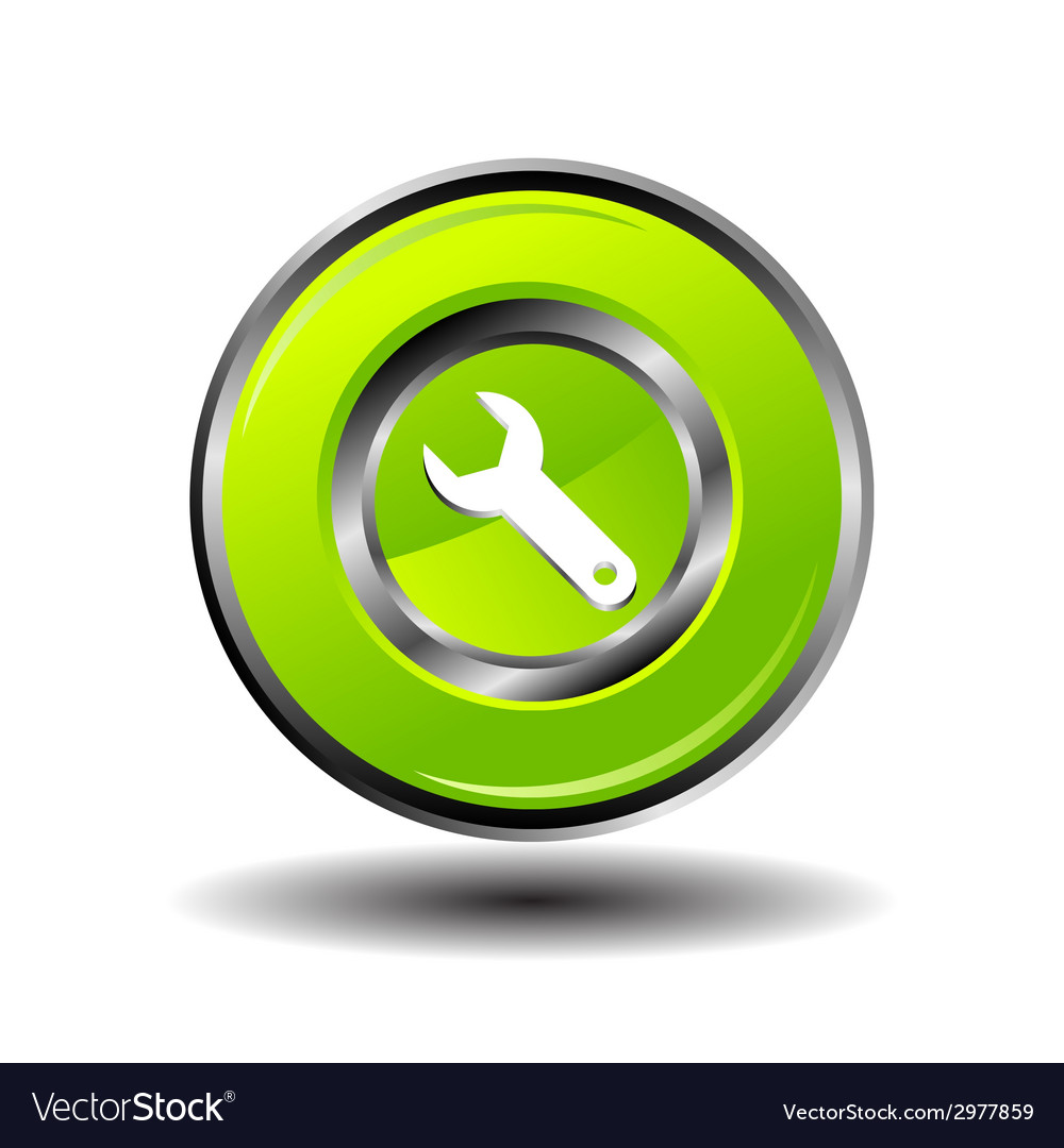 Wrench icon setting round button vector | Price: 1 Credit (USD $1)