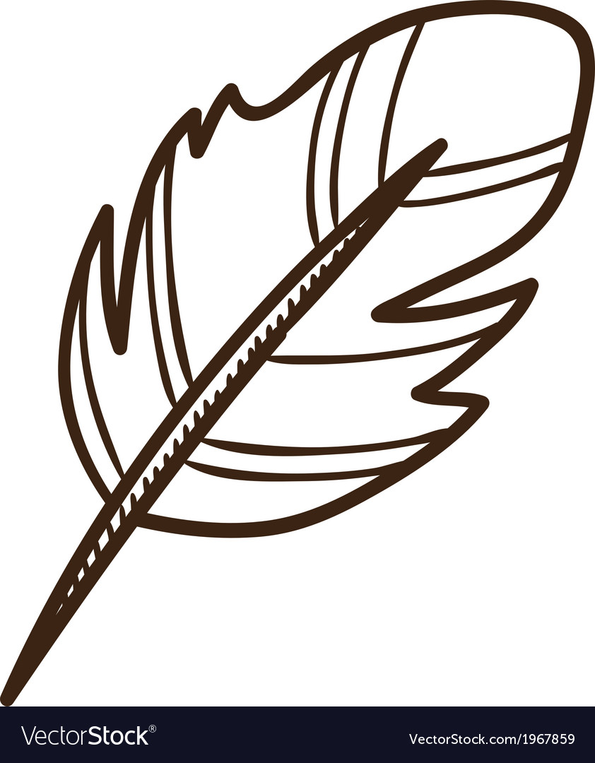 Writing quill vector | Price: 1 Credit (USD $1)