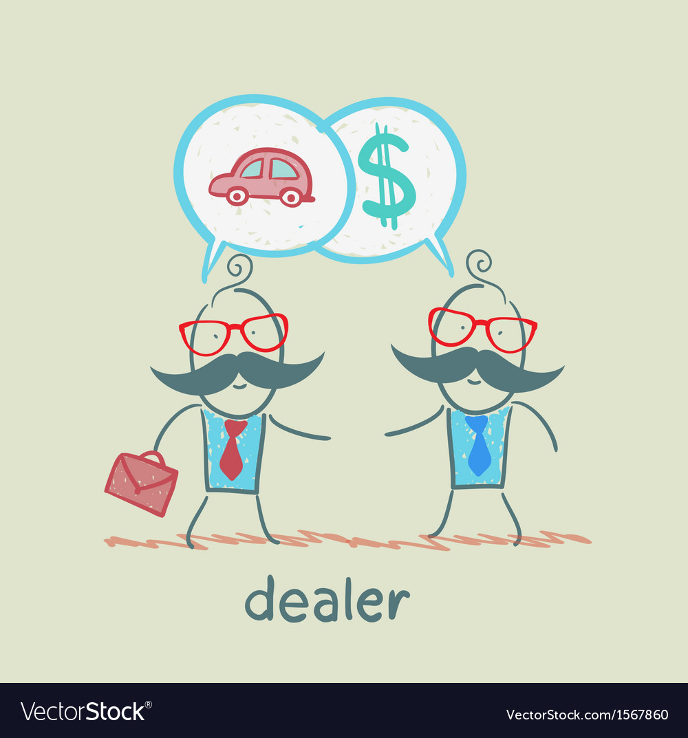 Business meeting dealers vector | Price: 1 Credit (USD $1)