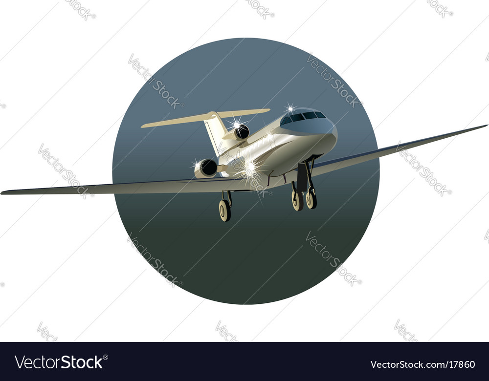 Businessjet vector