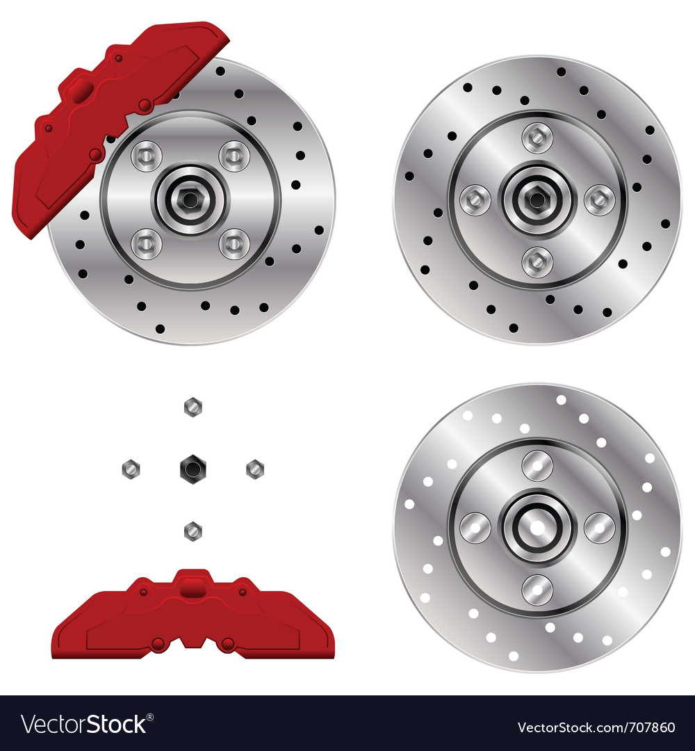 Car brake disk system vector | Price: 1 Credit (USD $1)