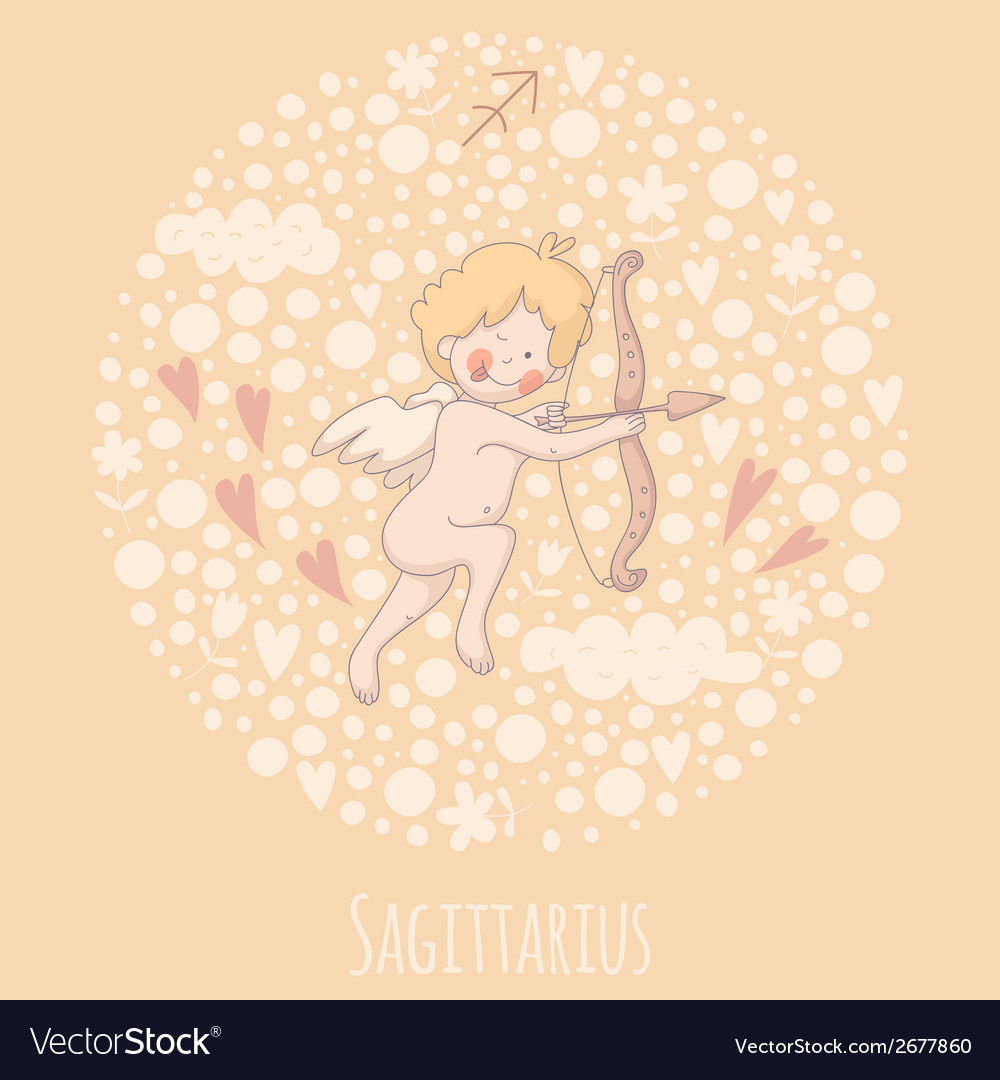 Cartoon of the archer sagittarius vector | Price: 1 Credit (USD $1)