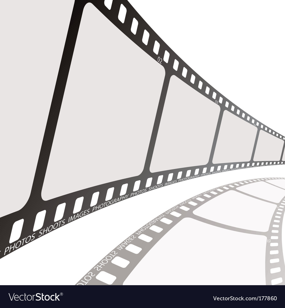 Film reel angle vector | Price: 1 Credit (USD $1)