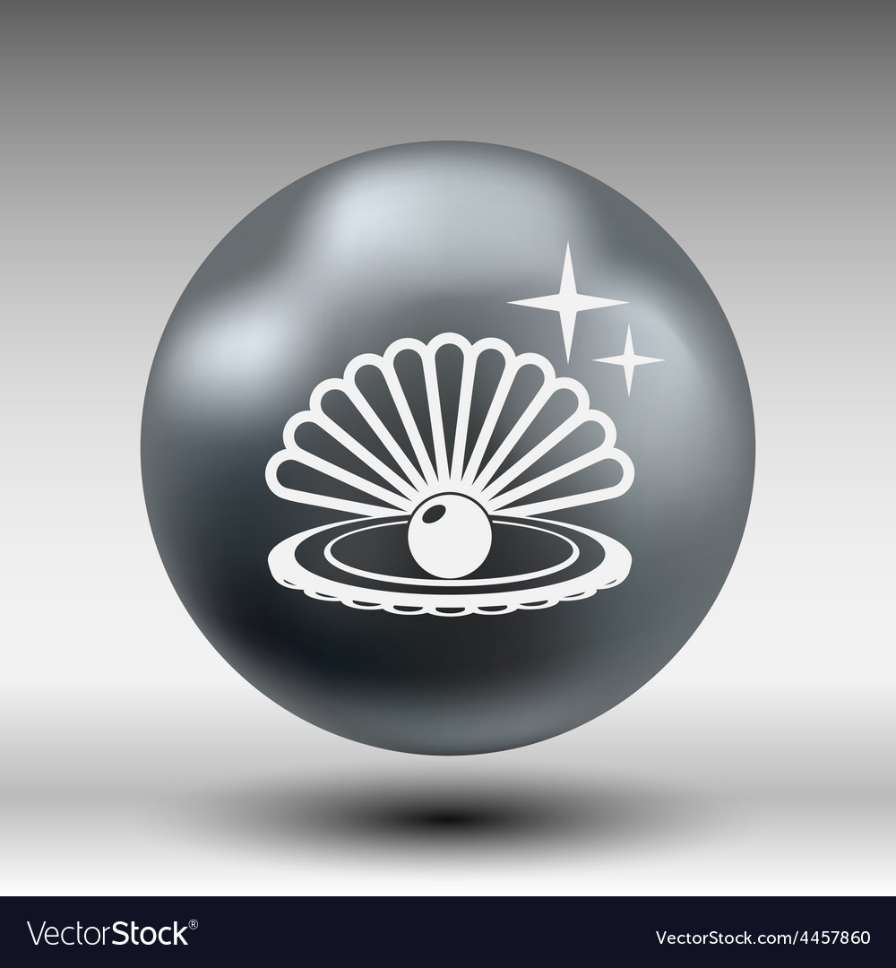 Gray web icon pearl isolated ball symbol element vector | Price: 1 Credit (USD $1)