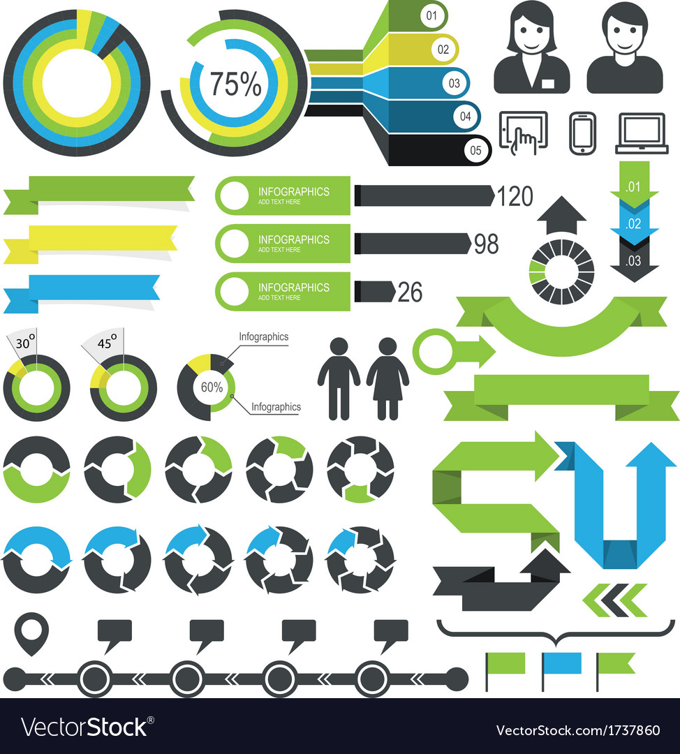 Infographics - statistic elements and icons vector | Price: 1 Credit (USD $1)