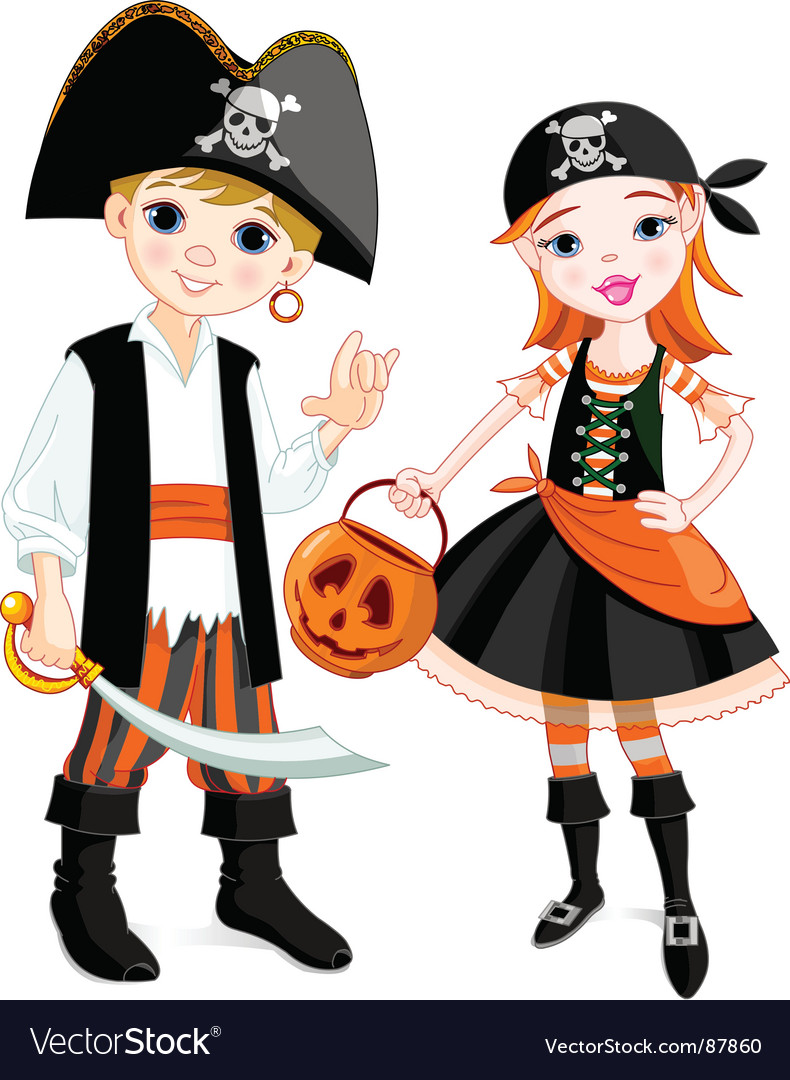 Pirate couple vector | Price: 3 Credit (USD $3)