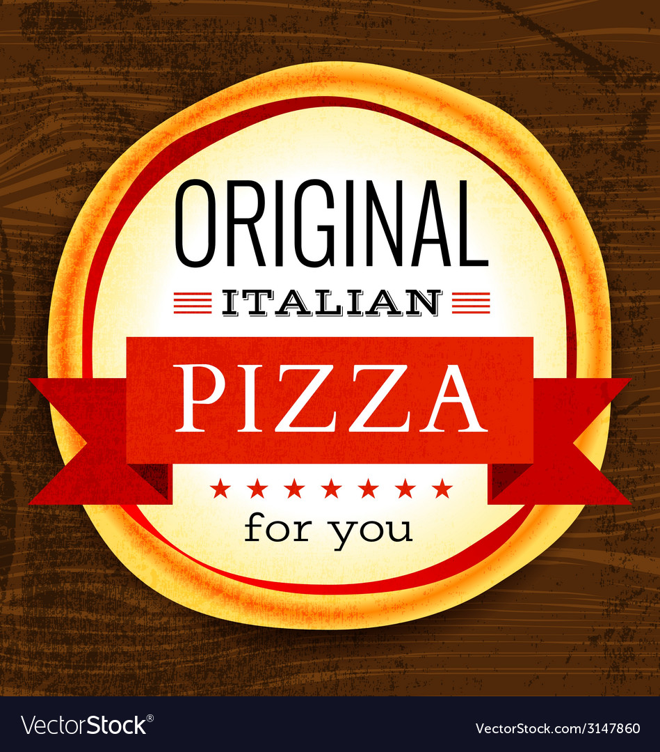 Restaurant menu with pizza vector | Price: 1 Credit (USD $1)