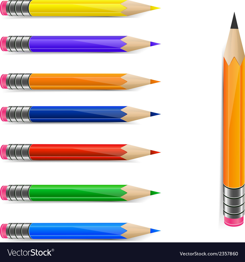 Set of pencils vector | Price: 1 Credit (USD $1)