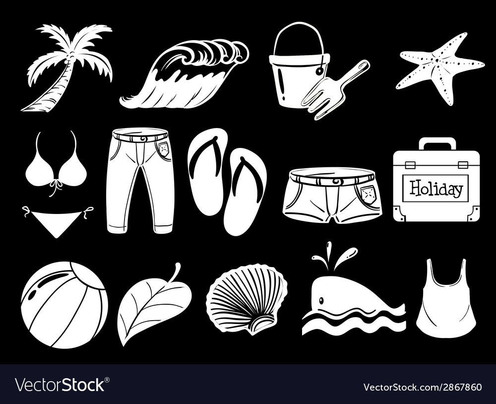 Things used during summer vector | Price: 1 Credit (USD $1)