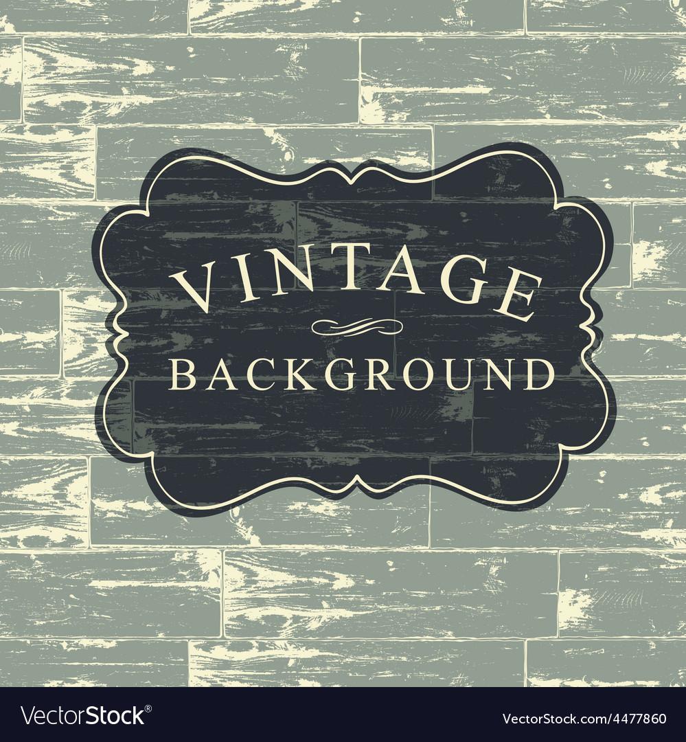 Vintage wooden background vector | Price: 1 Credit (USD $1)