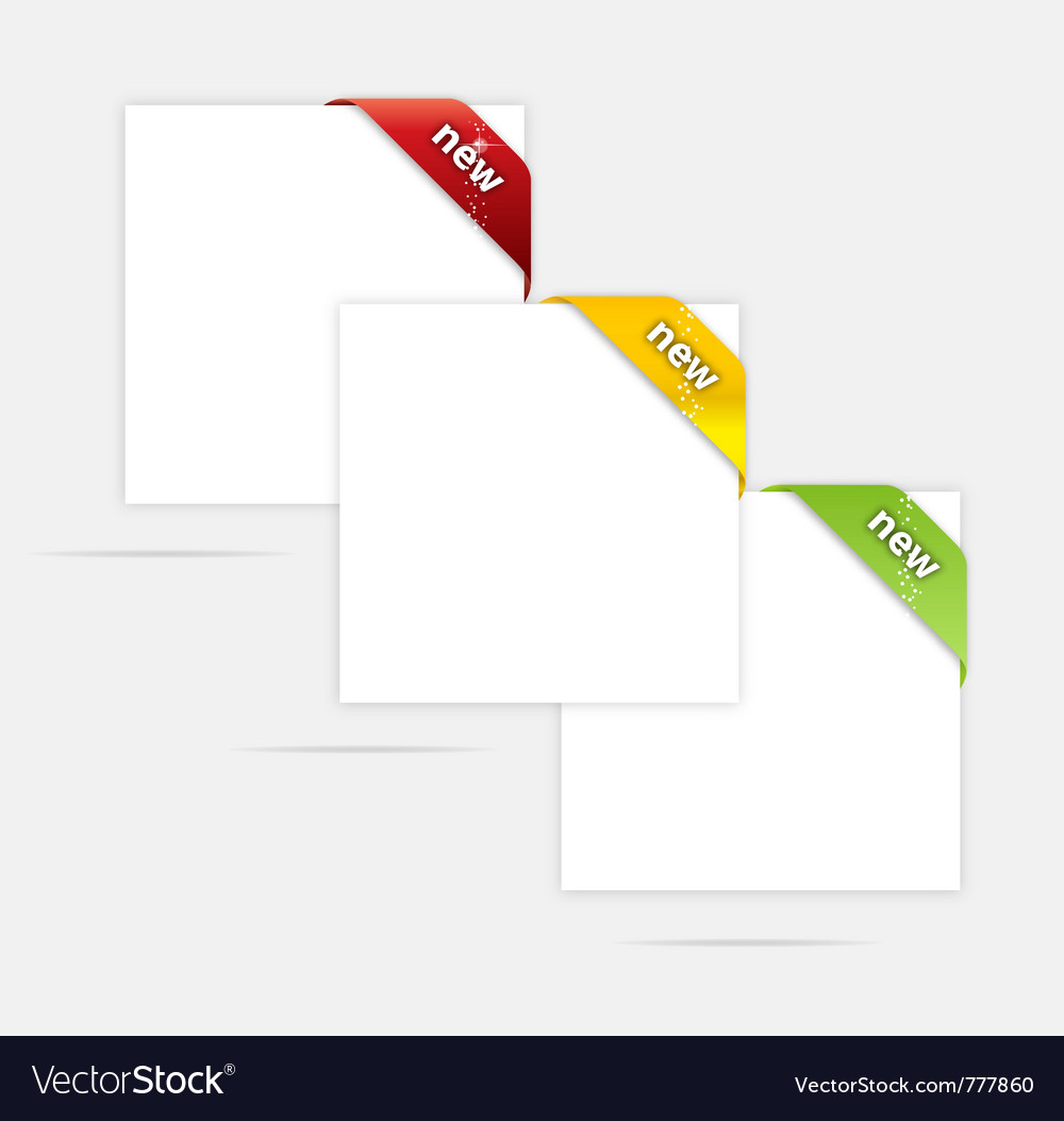 Web paper blank set vector | Price: 1 Credit (USD $1)