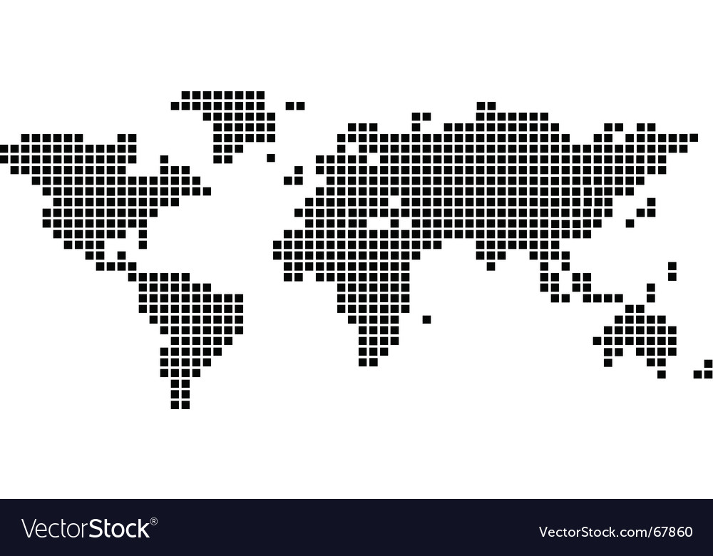 World map squares vector | Price: 1 Credit (USD $1)
