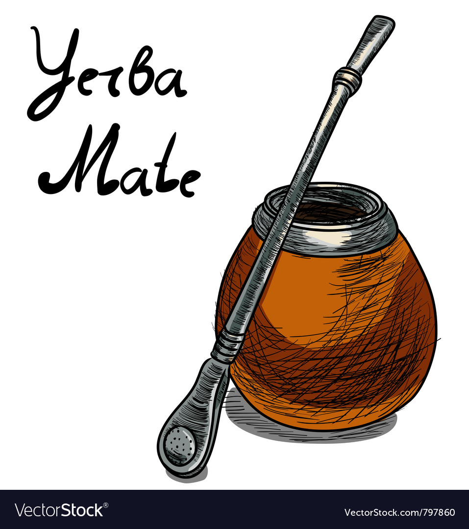 Yerba mate calabash vector | Price: 1 Credit (USD $1)