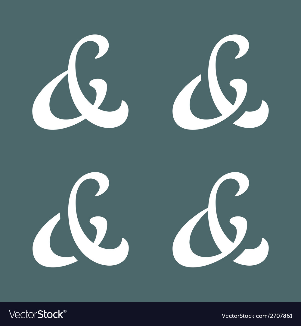 Ampersands collection vector | Price: 1 Credit (USD $1)