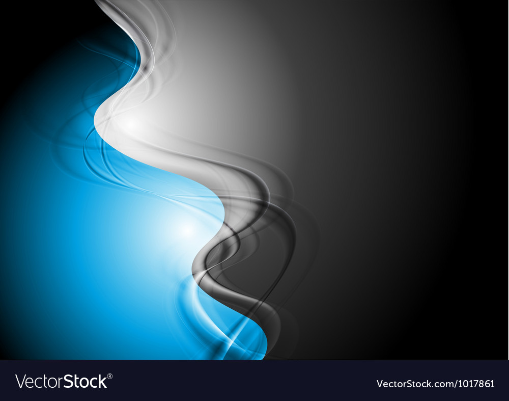 Blue and black wavy background vector | Price: 1 Credit (USD $1)