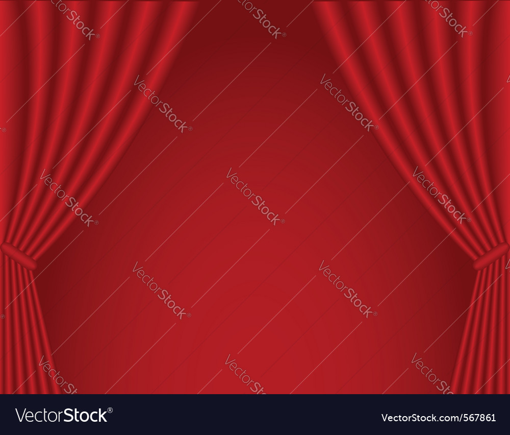 Classical dark red theater curtain background vector | Price: 1 Credit (USD $1)