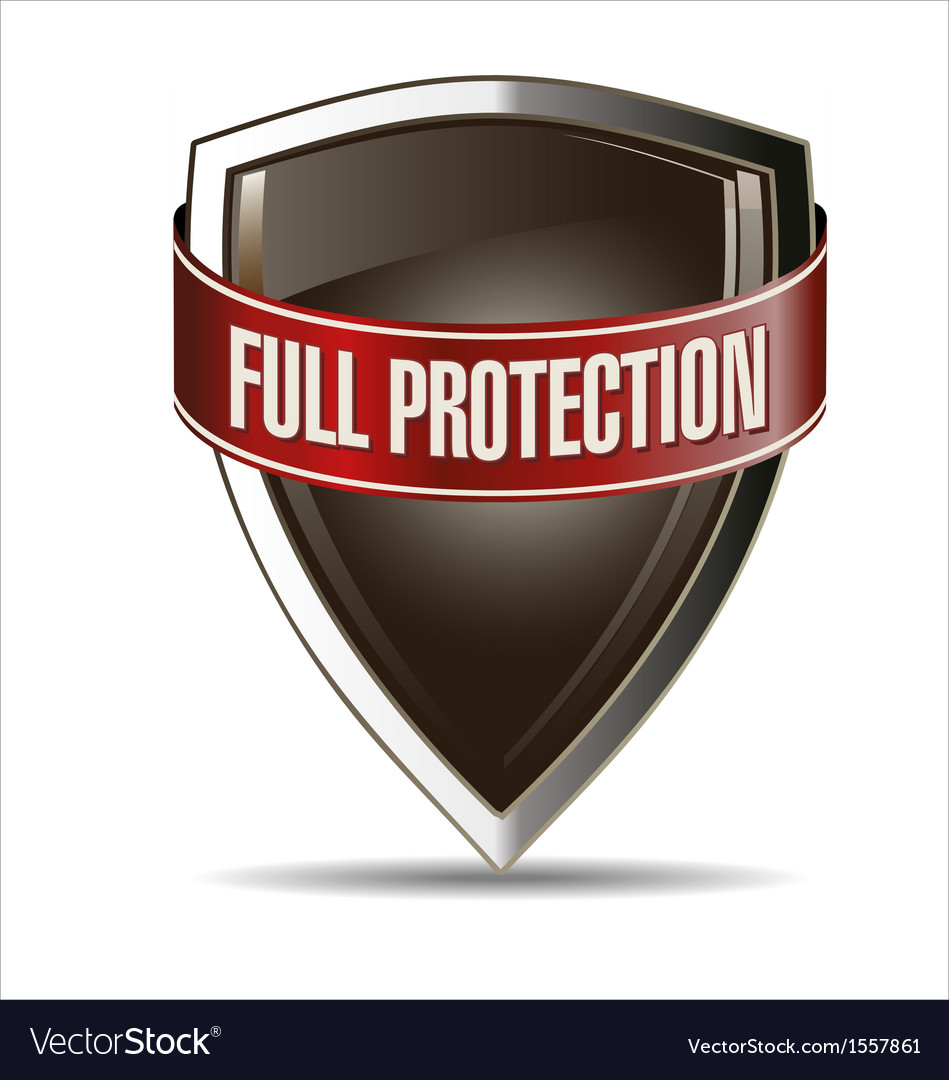 Full protection silver and brown shield vector | Price: 1 Credit (USD $1)