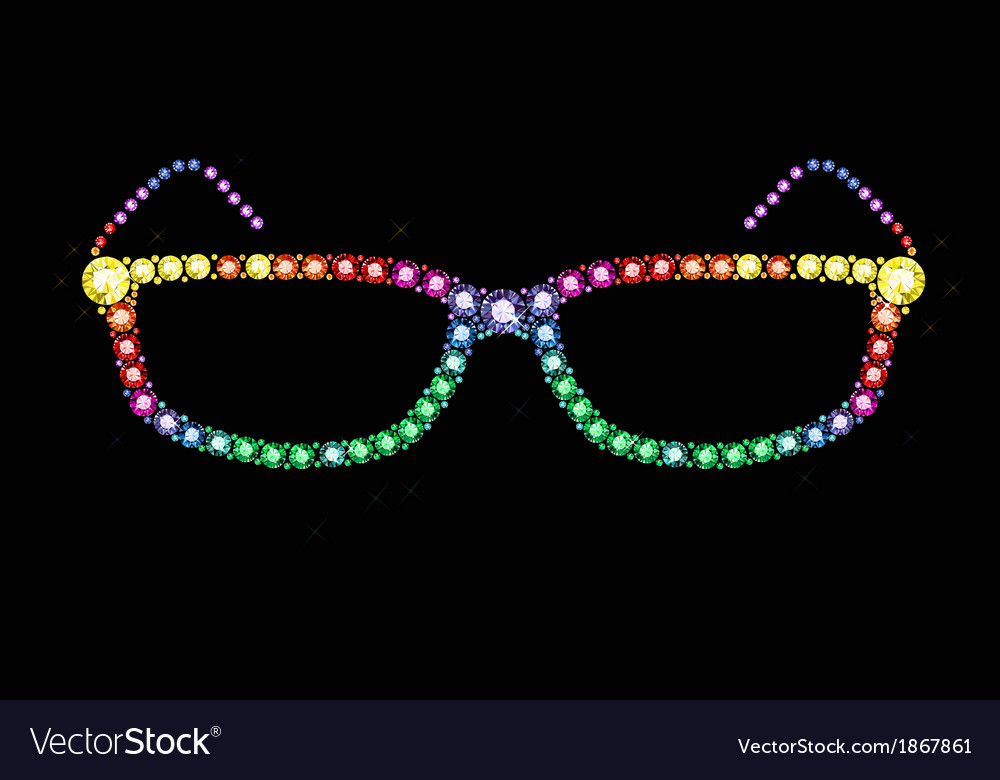 Gem glasses vector   Price: 1 Credit (USD $1)