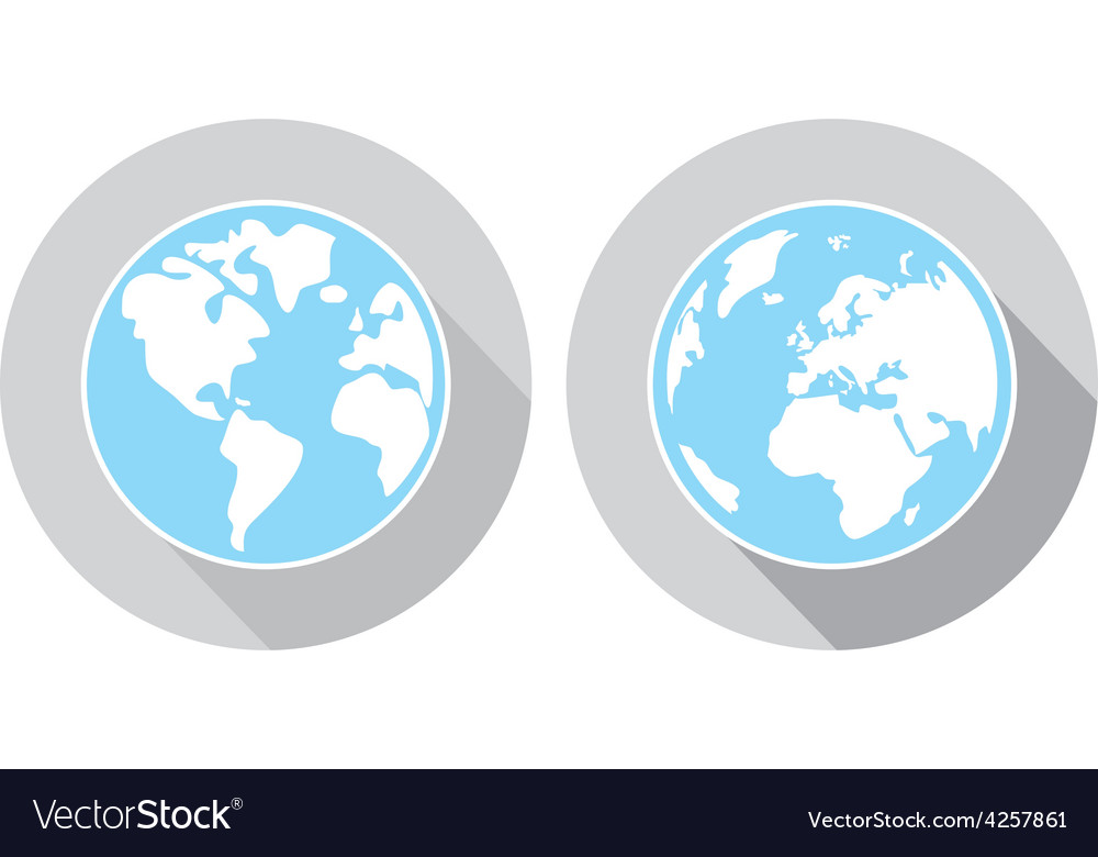 Hand drawn earth sign isolated on white vector | Price: 1 Credit (USD $1)