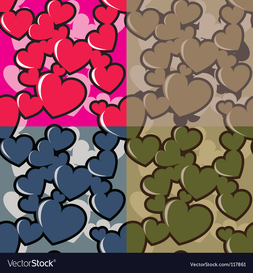 Hearts camouflage vector   Price: 1 Credit (USD $1)