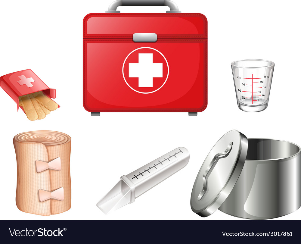 Medical supplies vector | Price: 1 Credit (USD $1)