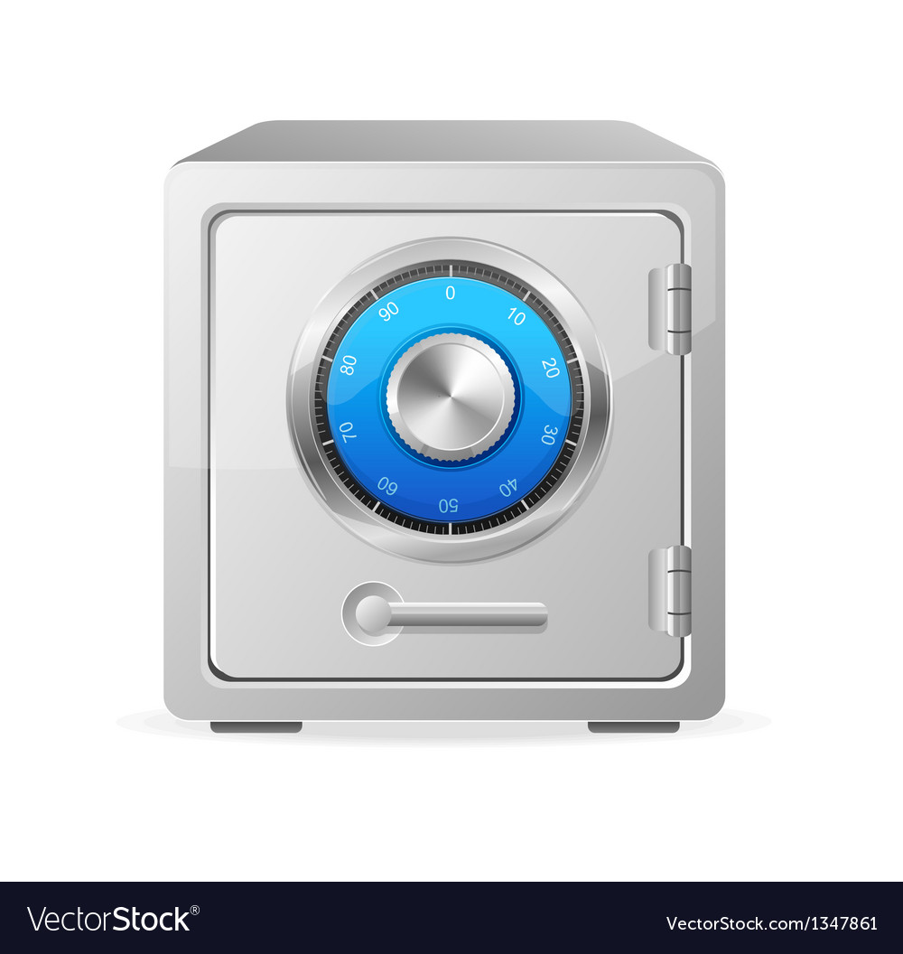 Metal safe icon security concept vector | Price: 1 Credit (USD $1)