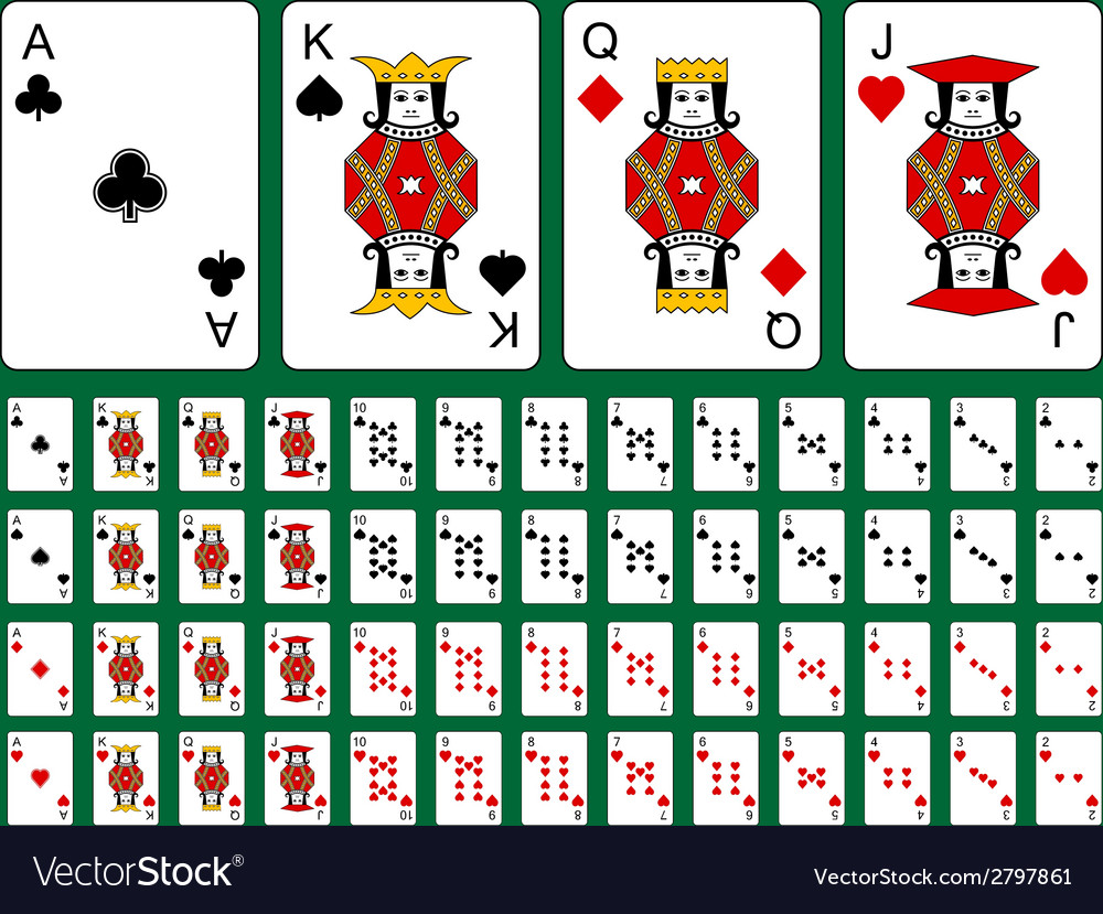 Original playing cards vector | Price: 1 Credit (USD $1)