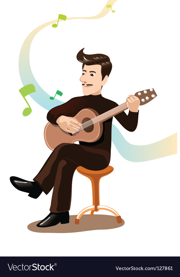 Play guitar vector | Price: 1 Credit (USD $1)