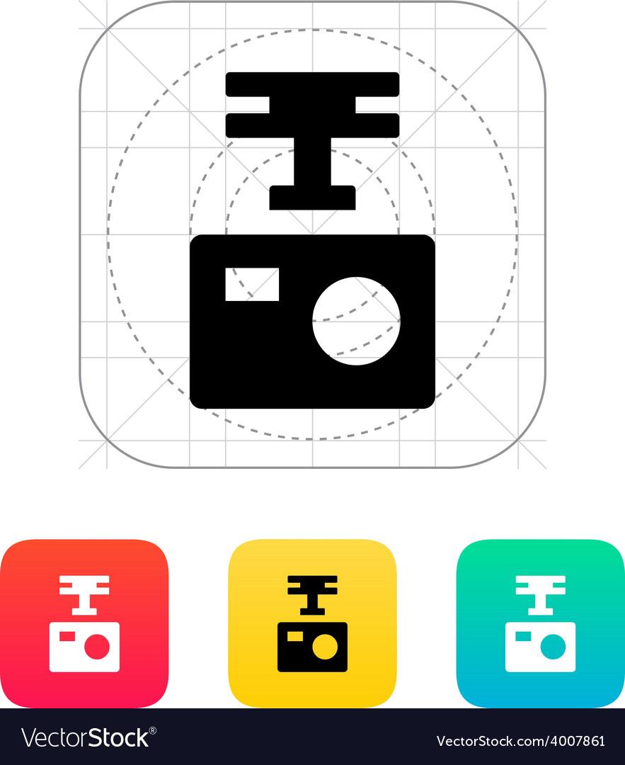Portable drone camera icon vector | Price: 1 Credit (USD $1)