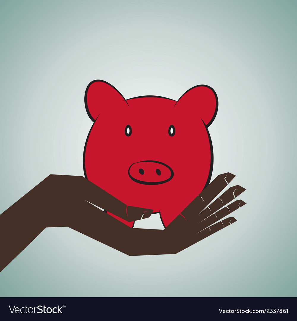 Saving money concept vector | Price: 1 Credit (USD $1)