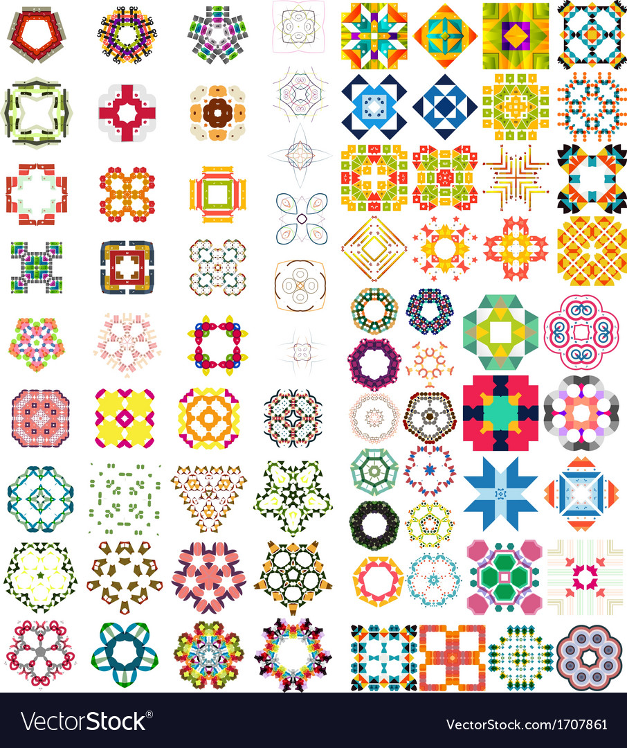 Set of abstract geometric icons  shapes vector | Price: 1 Credit (USD $1)