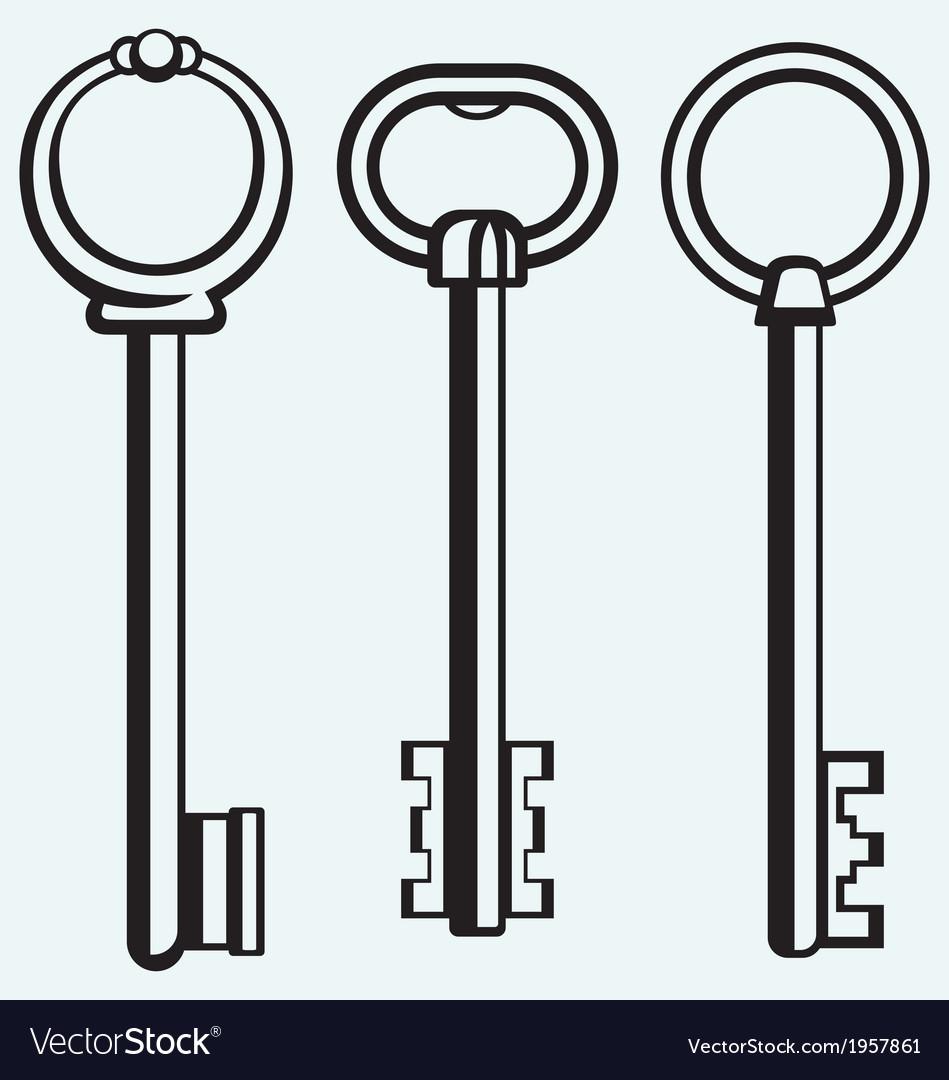 Silhouette of keys vector | Price: 1 Credit (USD $1)