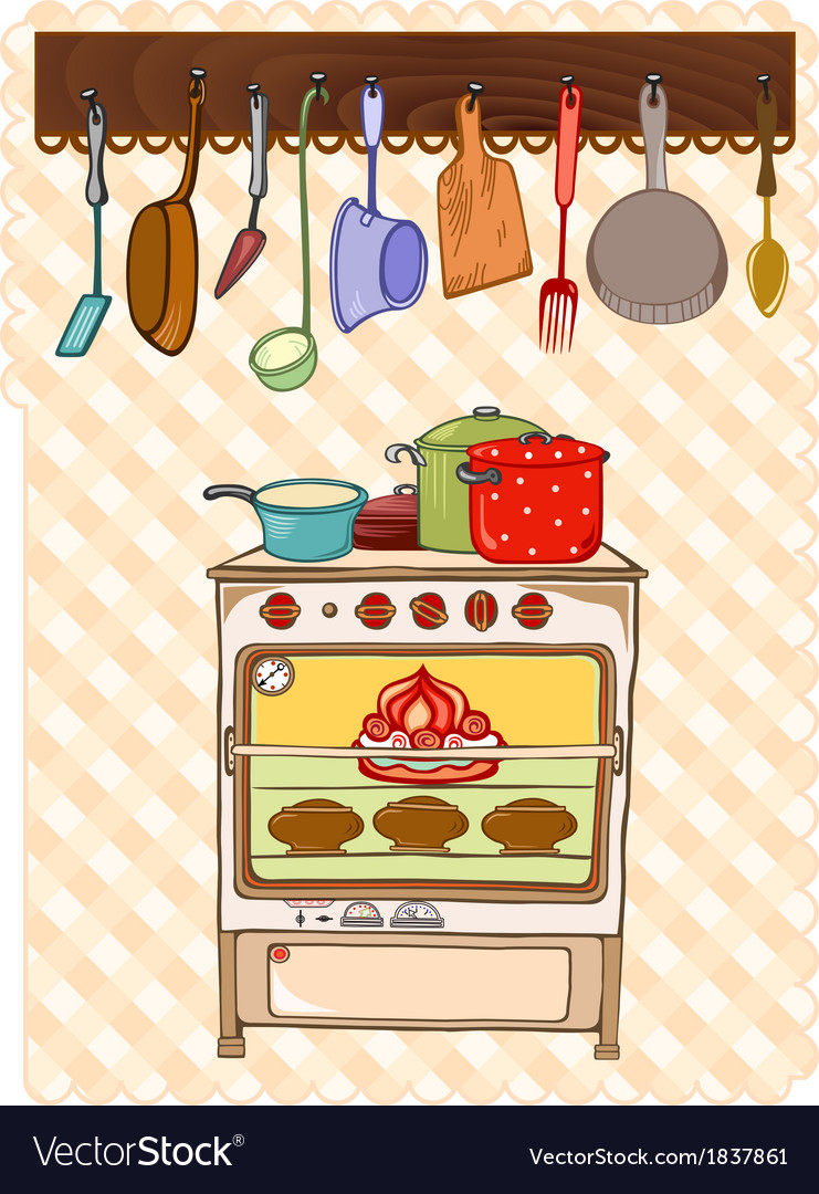 Stove and kitchen tool vector | Price: 1 Credit (USD $1)