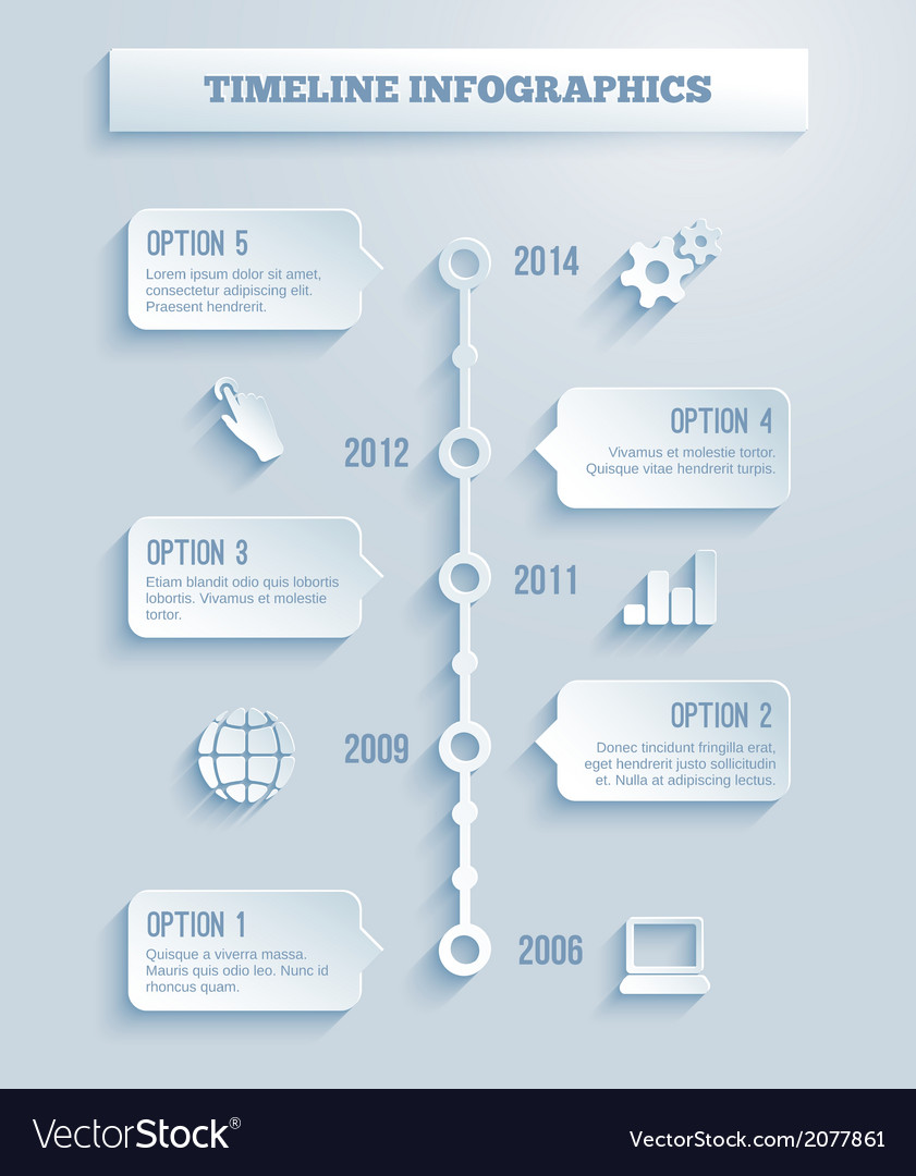 Time line infographics vector | Price: 1 Credit (USD $1)