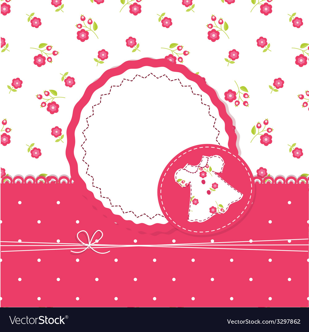 Baby girl shower with dress vector   Price: 1 Credit (USD $1)