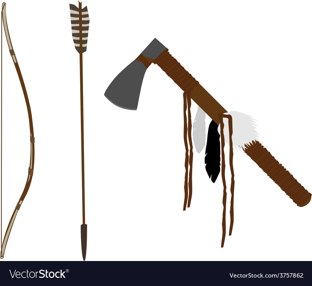 Bow and tomahawk vector | Price: 1 Credit (USD $1)